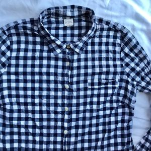 J. Crew The Perfect Shirt NavyBlue Button Down